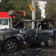 An SUV caught fire on Feb. 15, 2020, at a Shell gas station in South Salem.