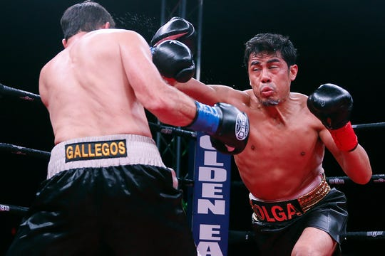 Boxers Josue Garcia and Miguel Gallegos fight Saturday, Feb. 15, at the El Paso County Coliseum. Garcia won the match.