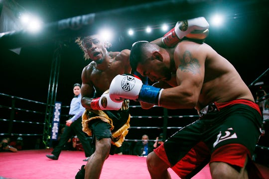 Boxers Dwayne Bonds and Carlos Villalva fight Saturday, Feb. 15, at the El Paso County Coliseum. Bonds won by TKO.