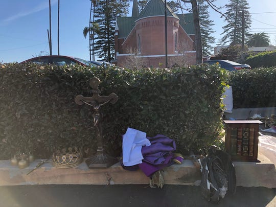 Items stolen from Santa Clara Church in Oxnard on Saturday.