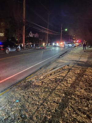 A pedestrian was hit by a car in Monsey.