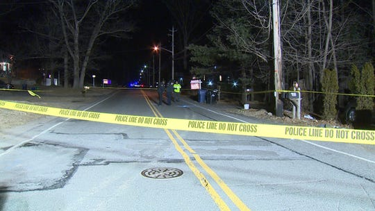 The scene of a pedestrian crash in Monsey on Saturday