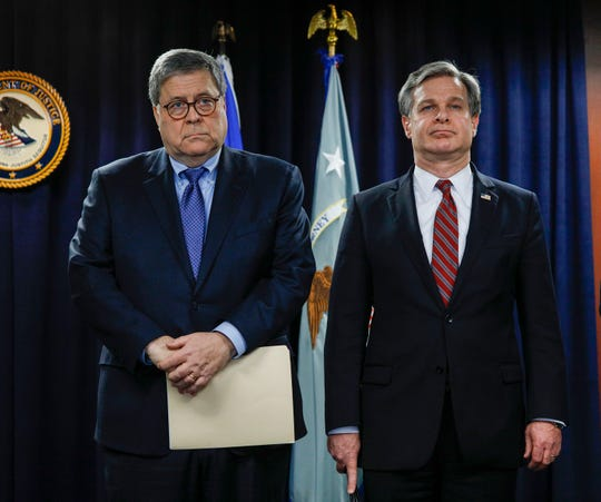Barr, Wray and top security officials: Help us protect the 2020 elections and your vote