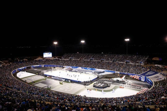 The NHL continued its Stadium Series Saturday night at  the U.S. Air Force Academy's Falcon Stadium in Colorado Springs with a game between the Los Angeles Kings and Colorado Avalanche.