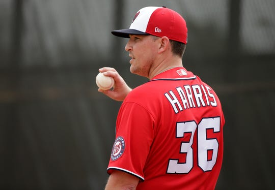 Will Harris signed a three-year deal with the Nationals this winter.