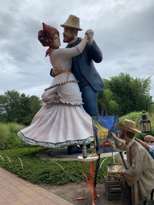 Seward Johnson's 'A Turn of the Century' at Grounds for Sculpture in Hamilton, New Jersey.
