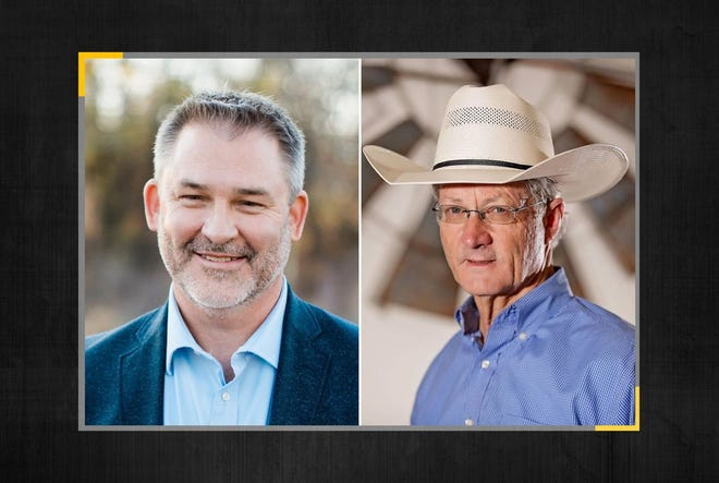 Jon Francis, left, and Glenn Rogers are in the Republican primary runoff for the open seat in Texas House District 60. There was no candidate in the Democratic primary.