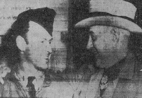 A May 1945 photos in the Reporter-News shows Amon Carter Sr., right, with his son, Amon Jr., who had been a prisoner of war for two years in Germany. They were reunited near the Elbe River. Amon Carter Jr. was liberated from Luckenwalde prison.