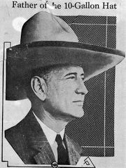 Publisher of the Fort Worth Star-Telegram Amon G. Carter is credited with the biggest of Texas hats. He'd buy a hat to give to prominent guests of the city.