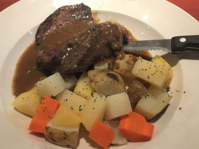 Sauerbraten is a popular dish in Germany and one of the many specialties available at Territorial Brewing Company at its new location in Springfield.