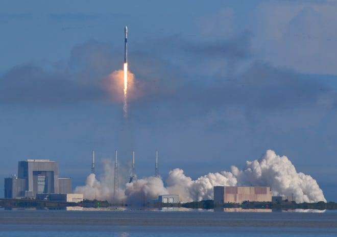 A SpaceX  Falcon 9 rocket launched from Cape Canaveral Air Force Station's Launch Complex 40 earlier this month. SpaceX has signed a deal with Space Adventures to fly a future group of tourists on a SpaceX rocket.