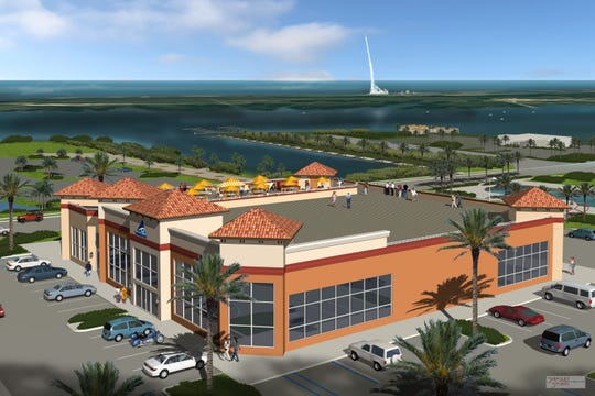 A development including a Beachwave Beachware store, a tiki bar, a restaurant and retail space could come soon to Titusville