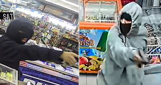 Corpus Christi police are seeking a suspect in a string of robberies. Police believe the suspect is a woman with a deep voice. Anyone with information should call police at 361-886-2600 or Crime Stoppers at 361-888-8477.