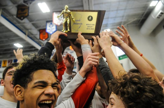 Paulsboro defeated Delaware Valley in the NJSIAA Team Wrestling Championships Group I at the RWJ BarnabasHealth Arena in Toms River on Feb.16, 2020.