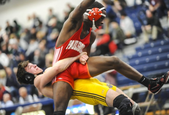 Paulsboro defeated Delaware Valley in the NJSIAA Team Wrestling Group 1 Championships held at the RWJBarnabas Health Arena in Toms River on Feb.16, 2020.