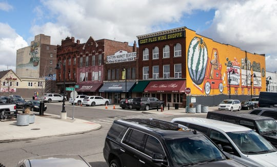 Businesses in Detroit's Eastern Market are seen on Friday, March 22, 2019.