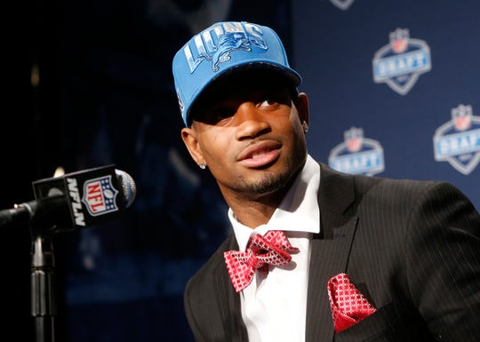 Mississippi State's Darius Slay speaks during a news conference after being selected 36th overall by the Detroit Lions in the second round of the NFL draft Friday, April 26, 2013, at Radio City Music Hall in New York.