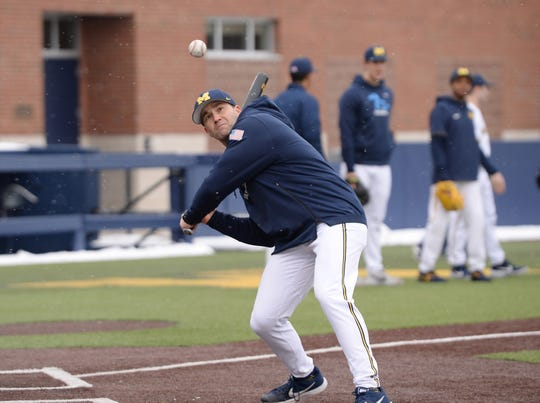 """Michigan coach Erik Bakich says the Wolverines' No. 1 ranking in Baseball America is """"unexpected."""""""