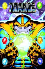 """Thanos, the """"Big Bad"""" of the Marvel Cinematic Universe, was created by artist/Detroit native Jim Starlin. Starlin first conceived Thanos during a psychology class at Oakland Community College."""