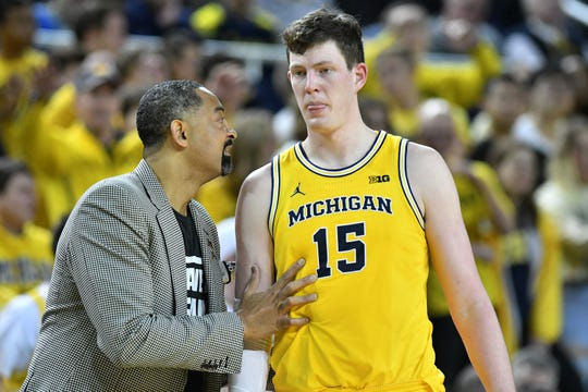 """Jon Teske said facing Wisconsin is different this time around: """"It's very different. Everyone that comes in and plays is a capable 3-point shooter. We have to be aware of that and we have to find the 3-point line."""""""