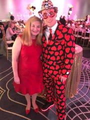 Barbara Monaghan and Caleb Zandstra enjoy the festivities.