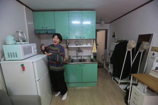 Kim Da-hye talks about her semi-basement apartment in Seoul, South Korea.