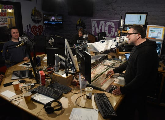 """Hosts Spike, from left, co-host Shannon Murphy and Mojo are now part of the longest-running FM morning program in local history. Or maybe the second-longest, behind """"Drew and Mike."""""""