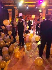 The balloon drop.
