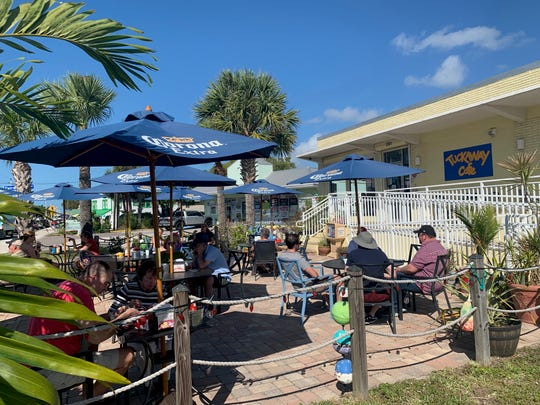 Tuckaway offers first-come-first-served seating on its umbrella-lined patio.