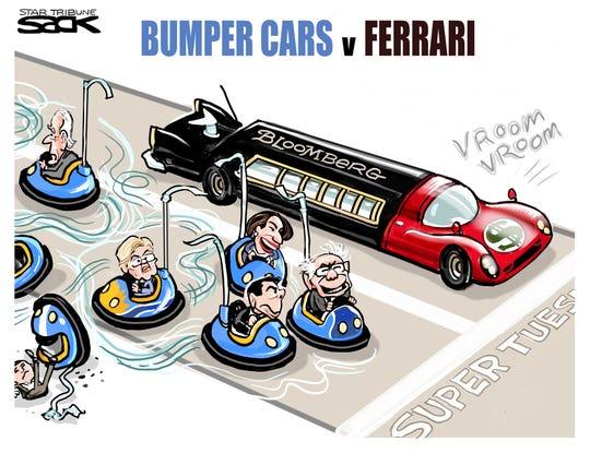 Democrats' bumper car race.