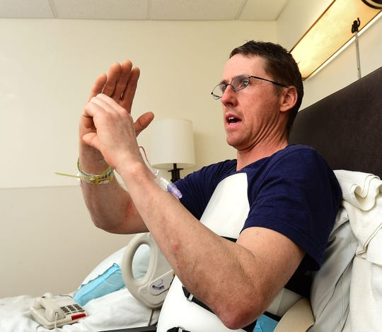 Ice climber Rick Dvorak describes his fall and rescue in Wyoming from his hospital room at the Billings Clinic.
