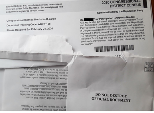 The Montana Department of Commerce warns Montanans about this mailer.