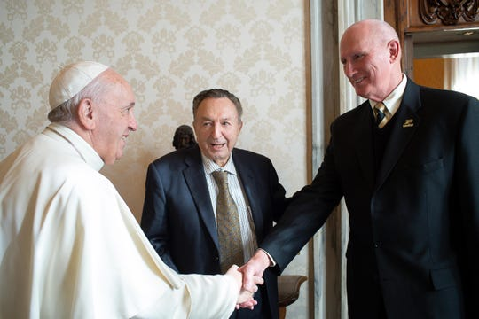 Purdue professor John Sheffield met with Pope Francis Feb. 7 to discuss the possibilities of clean hydrogen energy.
