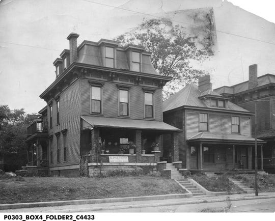 View of the three-story Alpha Home for Aged Colored Women located on Boulevard Place in 1930.