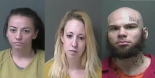 Amanda Bogue, 32; Brittany A. Causey, 21; and Jamie A. Travis, 33. Pictured from left to right. They join three others as suspects arrested in connection to the slaying of Lashay R. Young-Beard in Kokomo.