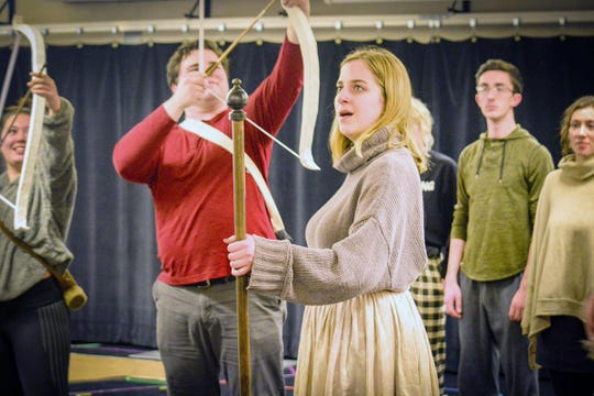 The Ithaca College Theatre production of the Purcell opera 'Dido and Aeneas' continues its run at the Hoerner Theatre.