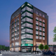An updated rendering of a Michigan State University Federal Credit Union proposal for a branch, office space and more in downtown East Lansing