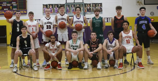The Mansfield News Journal All-Star Classic North Team consisted of (back row: left to right) Isaiah Seidel, Walker Elliott, Cooper Parrott, Terry Baldridge, Max Alwdruff, Tyler Tackett, Logan Niswander, Kaden Ronk (front row: left to right) Simon Blair, Roger Merrell III, Ethan Delaney, Mitch Heilman, Dylan Spears and Cameron Todd.
