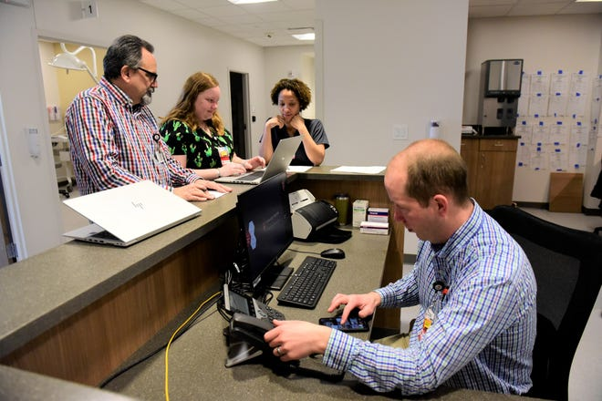 Staff of the new UH Samaritan Richland Health Center were getting to know their facility's systems Monday during its soft opening.