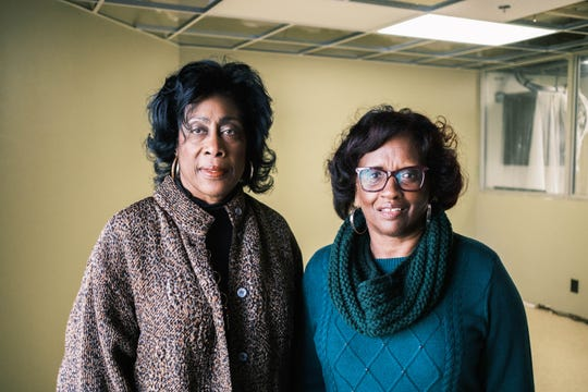 Janet Smith, left, and Marcia Brown, right, were both born in the historic Collins Chapel Hospital. The facility was the only hospital in Memphis to care for African Americans during segregation.