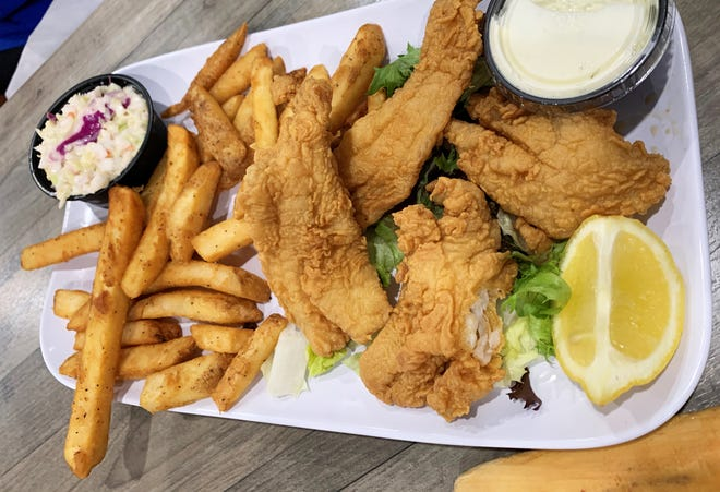 The grouper and fries basket from Marco Island Brewery.