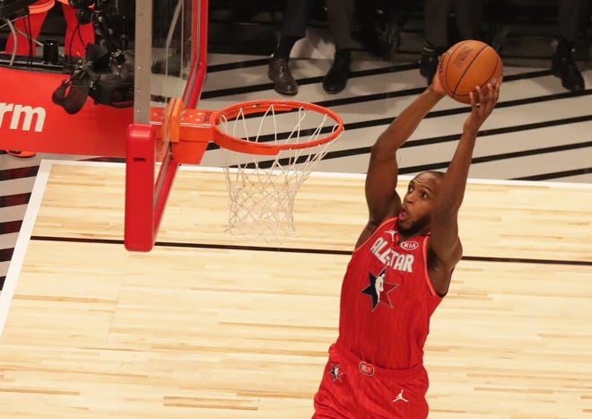 Bucks forward Khris Middleton played for Team Giannis in the All-Star Game last year.