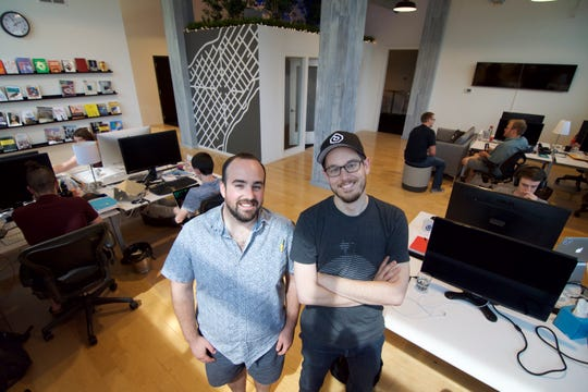 Ionic co-founders Max Lynch (left) and Ben Sperry in the company's Madison office.