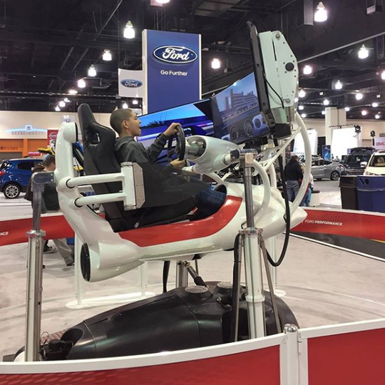 Those too young to drive have plenty of options at the auto show, including numerous vehicle simulators and activations.