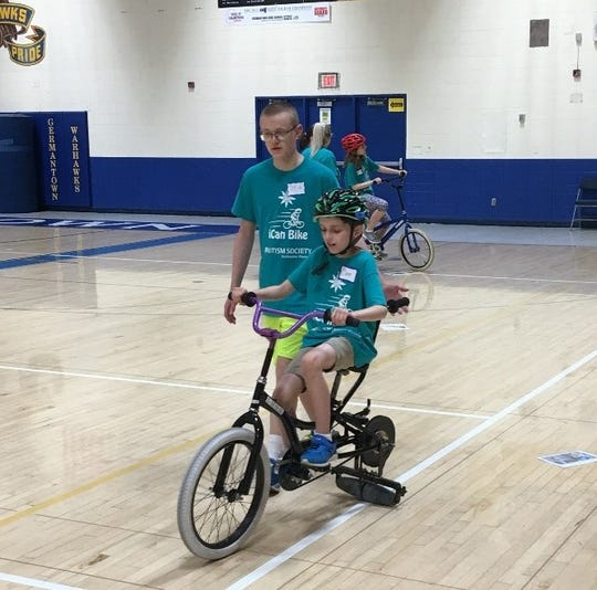 During the summer, the Germantown School District and Kiwanis Club of Germantown partner with ASSEW to offer the week-long iCan Shine Bike Program. In this program, participants will learn to independently ride a bicycle.