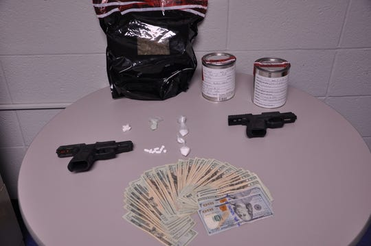 Items seized during the first Cease Fire Task Force spearheaded by the MPD.