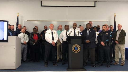 Interim Monroe Police Department Chief Reggie Brown discusses the results of the first Monroe Cease Fire Task Force.