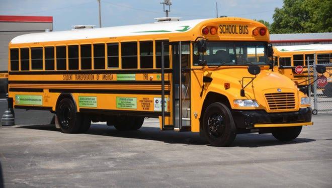 A propane powered school bus.