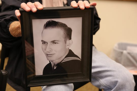Lionel Frietze pictured as a young man in the U.S. Navy.