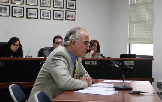 Michael Shyne address the Otero County Commission at their regular meeting Feb. 13.